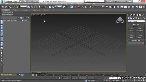 Touring the user interface and selecting workspaces: 3ds Max for Design Visualization
