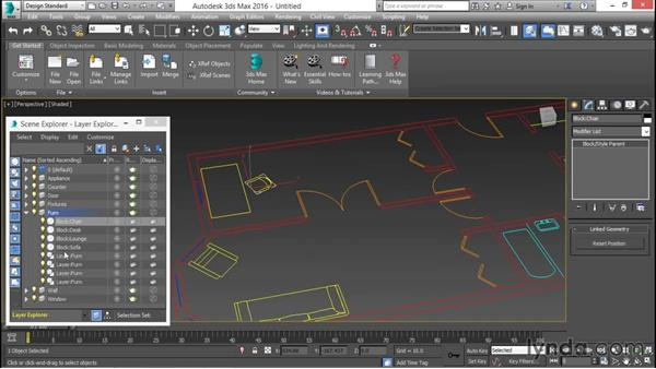 Linking to AutoCAD or Revit files: 3ds Max for Design Visualization