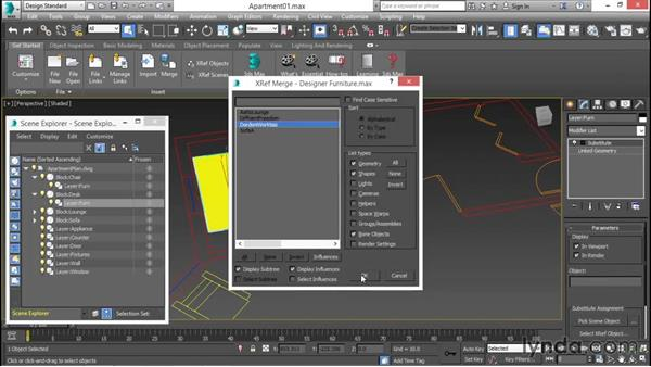 Substituting XREFed objects for linked geometry: 3ds Max for Design Visualization