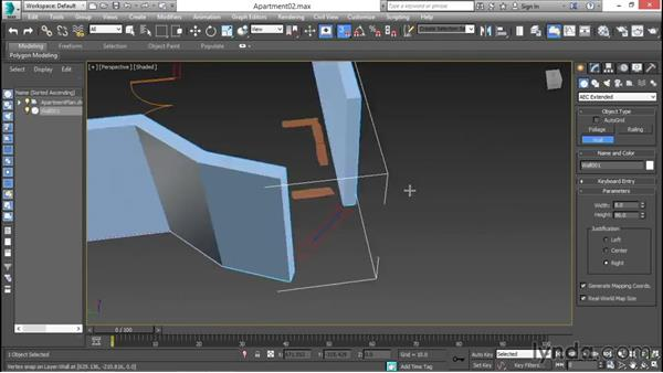 Drawing AEC extended walls: 3ds Max for Design Visualization