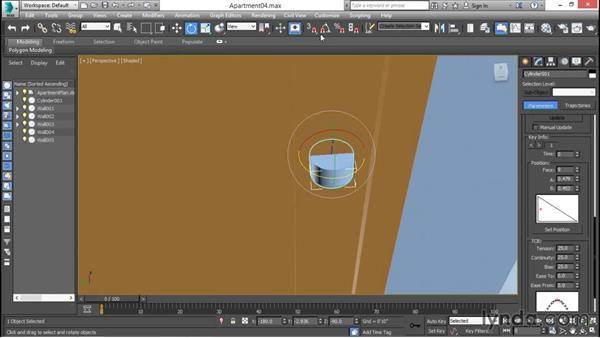 Constraining doorknobs to doors: 3ds Max for Design Visualization