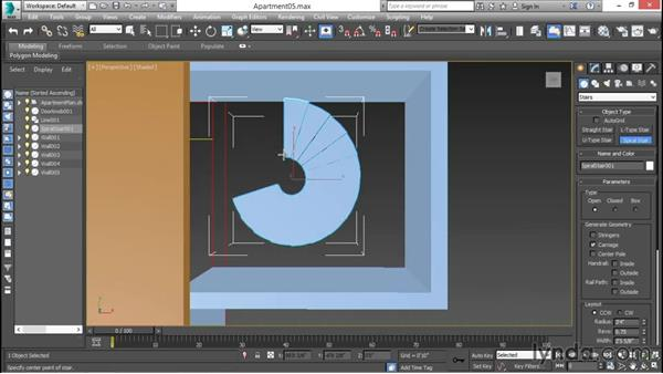 Creating parametric stairs: 3ds Max for Design Visualization