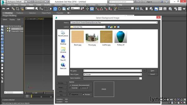 Configuring the viewport background with a bitmap: 3ds Max for Design Visualization