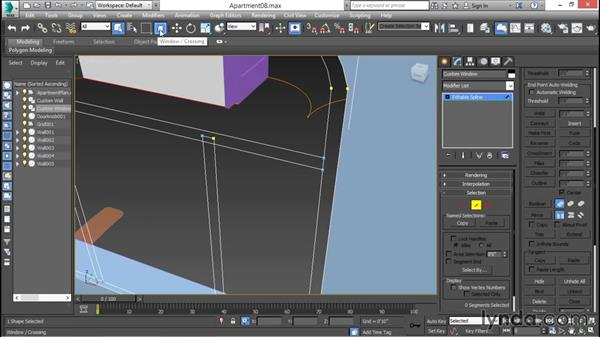 Designing custom spline-based windows: 3ds Max for Design Visualization