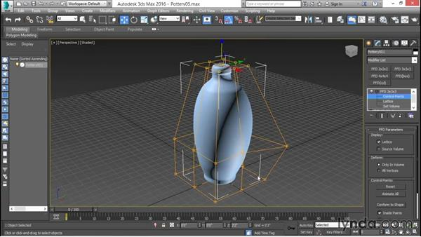 Using parametric modifiers and deformations: 3ds Max for Design Visualization