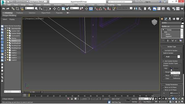 Shaping architectural moldings: 3ds Max for Design Visualization