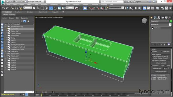 Compounding objects with ProBooleans: 3ds Max for Design Visualization