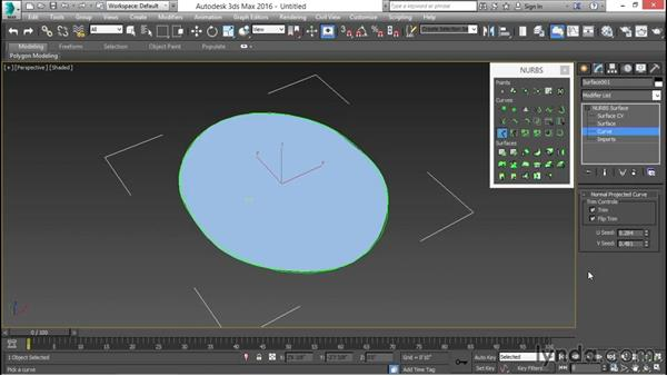 Shaping a seat surface: 3ds Max for Design Visualization