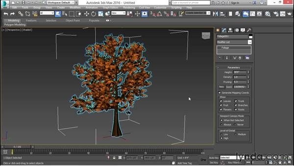 Creating a 3D tree and its rendering: 3ds Max for Design Visualization
