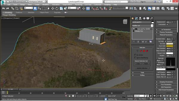 Rendering grass with the hair and fur modifier: 3ds Max for Design Visualization