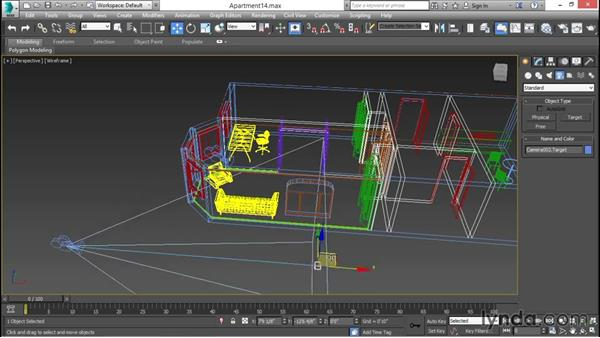Placing cameras and composing scenes: 3ds Max for Design Visualization
