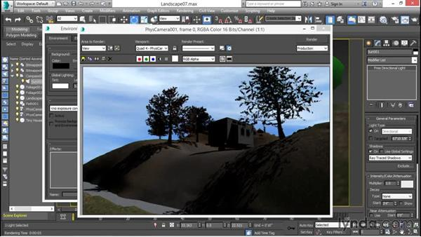 Rendering outdoor scenes with the scanline renderer: 3ds Max for Design Visualization