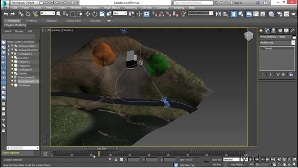 Animating a camera along a flight path: 3ds Max for Design Visualization