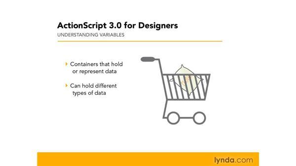 Understanding variables: ActionScript 3.0 in Flash CS4 Professional for Designers