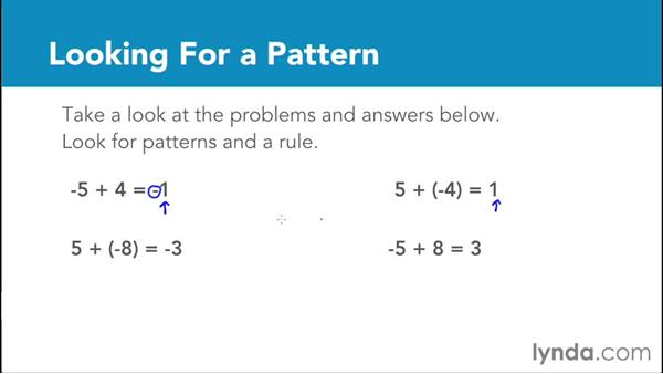 Adding integers with different signs: Foundations of Algebra: Pre-Algebra