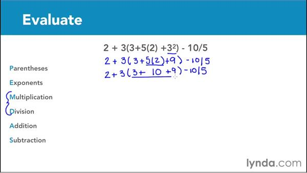 Order of operations: Parentheses and exponents: Foundations of Algebra: Pre-Algebra