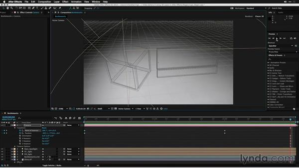 Creating a basic animation with a 3D camera: Motion Graphics for Video Editors: Working with 3D Objects