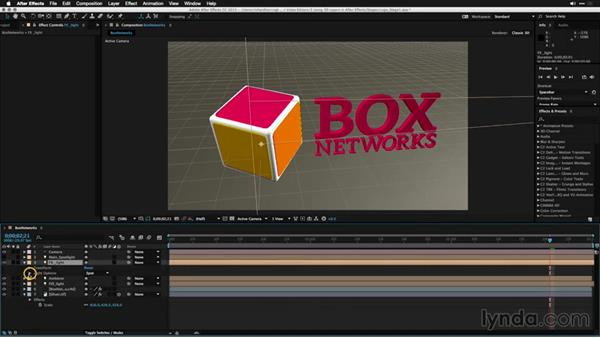 Enhancing a 3D model with lights: Motion Graphics for Video Editors: Working with 3D Objects