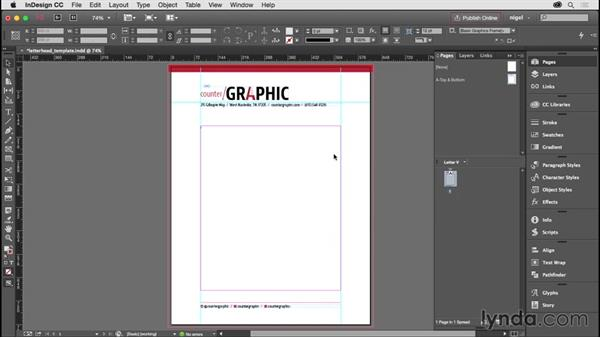 Making a template document: Designing a Letterhead System
