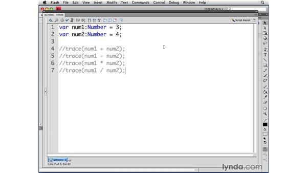 Understanding mathematical operators and number data types: ActionScript 3.0 in Flash CS4 Professional for Designers