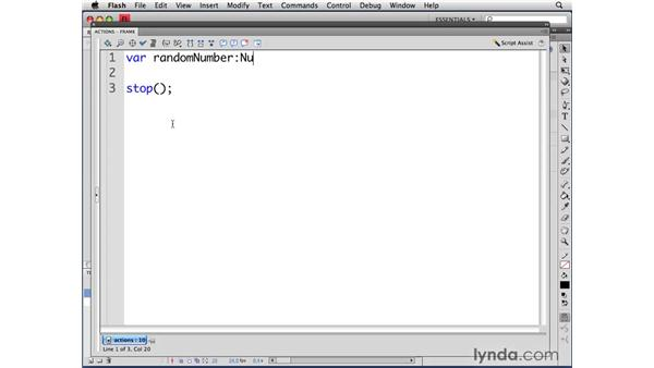 Using random numbers between 0 and 1: ActionScript 3.0 in Flash CS4 Professional for Designers