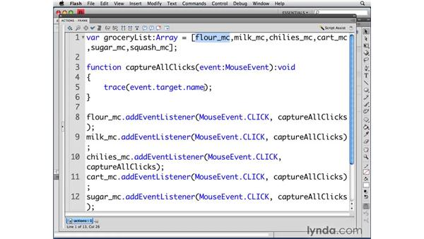 Finding indexes: ActionScript 3.0 in Flash CS4 Professional for Designers