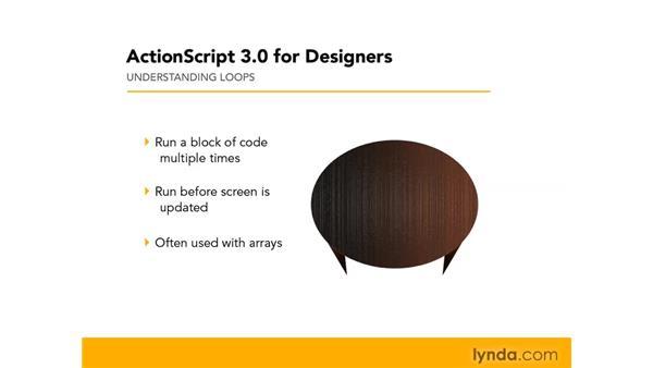 Understanding loops: ActionScript 3.0 in Flash CS4 Professional for Designers