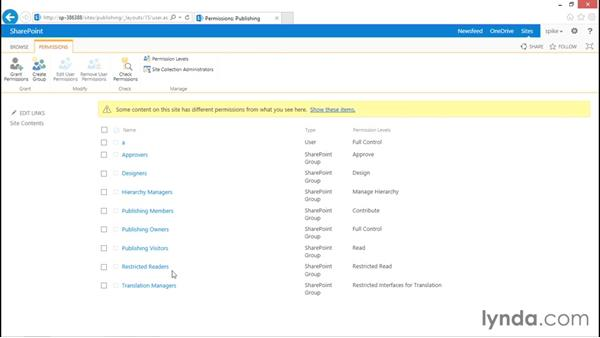 Collaboration versus publishing: SharePoint 2013 Security for Users