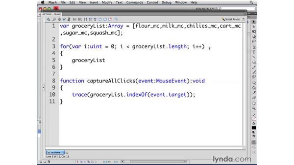 Using for loops: ActionScript 3.0 in Flash CS4 Professional for Designers