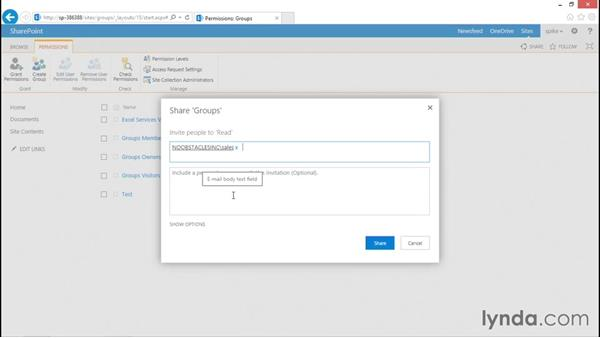 Viewing membership: SharePoint 2013 Security for Users