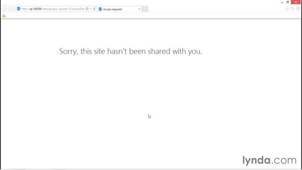 Managing access requests: SharePoint 2013 Security for Users