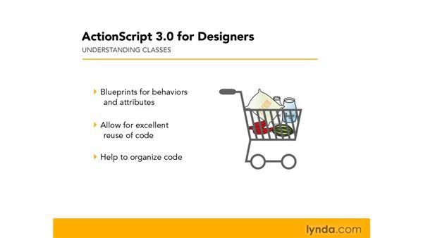 Understanding classes: ActionScript 3.0 in Flash CS4 Professional for Designers