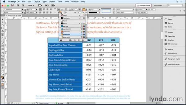 Working with cell fills: InDesign Tables in Depth