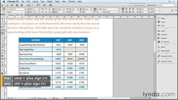 Setting diagonal lines in tables: InDesign Tables in Depth