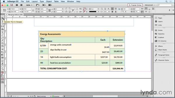 Merging and splitting cells: InDesign Tables in Depth