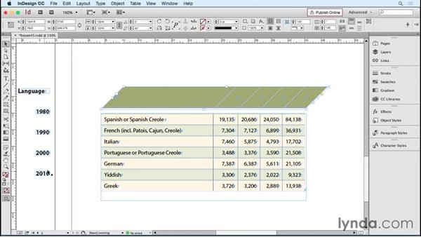 Rotating text at 45-degree angles: InDesign Tables in Depth