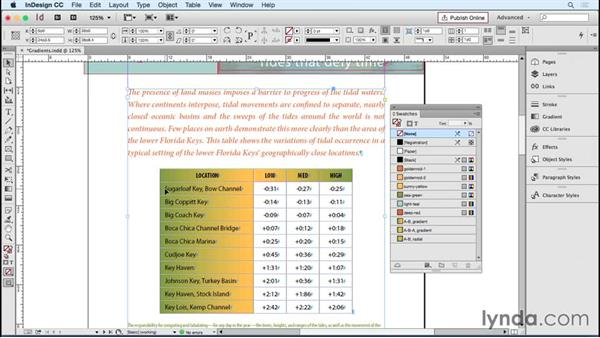 Using gradients in tables: InDesign Tables in Depth