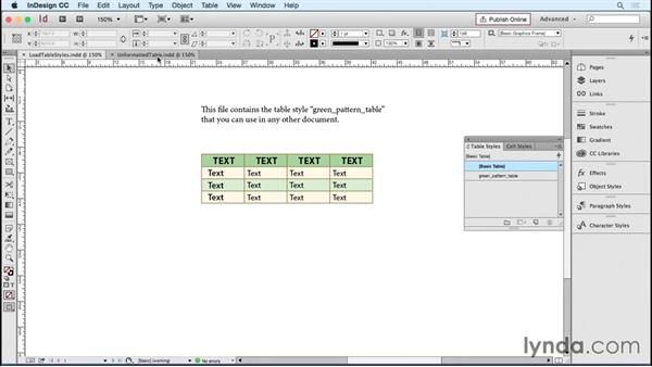 Sharing and re-using table and cell styles: InDesign Tables in Depth