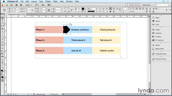 Creating infographics with tables: InDesign Tables in Depth