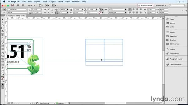 Simplifying complex text frames with tables: InDesign Tables in Depth