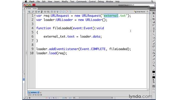 Reading HTML: ActionScript 3.0 in Flash CS4 Professional for Designers
