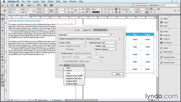 Converting tables to graphics for export: InDesign Tables in Depth