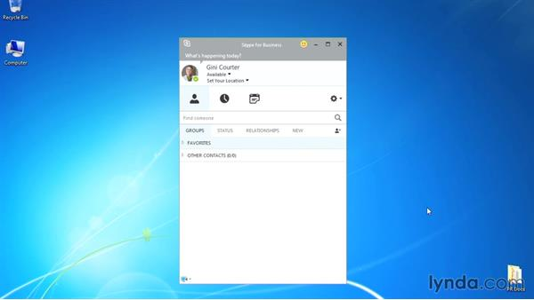 What you need for this course: Up and Running with Skype for Business