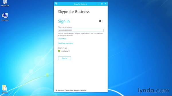 Logging onto Skype: Up and Running with Skype for Business