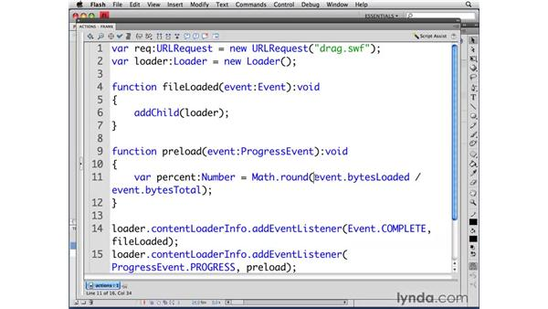 Creating a preloader: ActionScript 3.0 in Flash CS4 Professional for Designers