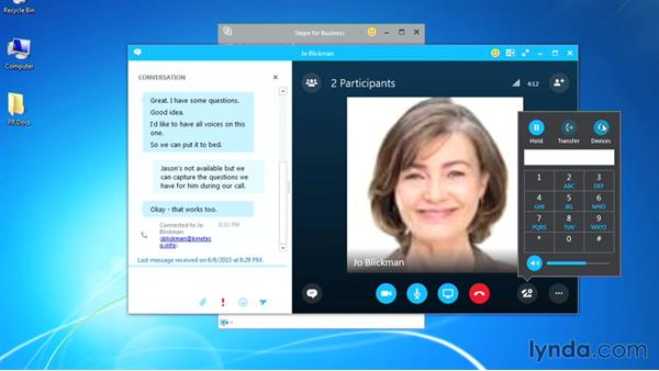 Making a call: Up and Running with Skype for Business
