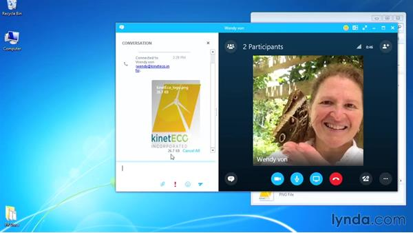 Sending files via Skype: Up and Running with Skype for Business