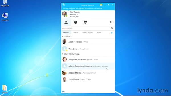 Adding external contacts: Up and Running with Skype for Business