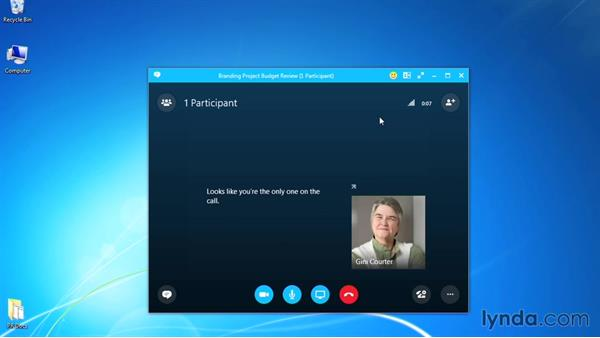 Ending a meeting: Up and Running with Skype for Business