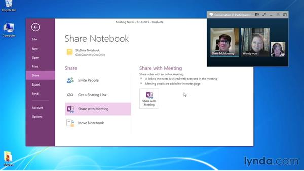 Sharing meeting notes: Up and Running with Skype for Business